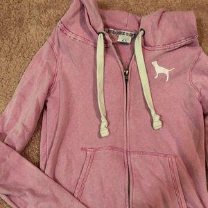 Victoria's Secret PINK Acid Wash Zip Up Jacket